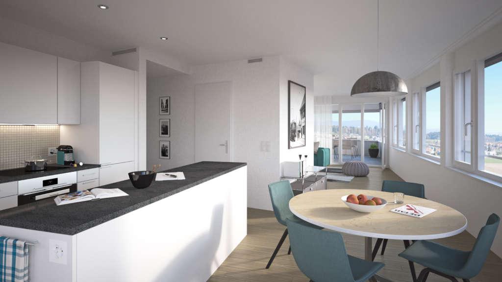 3 5 zimmerwohnung. Black Bedroom Furniture Sets. Home Design Ideas